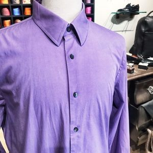 Express Men's 1MX Lavender Fitted Shirt